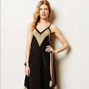 Anthro Vanessa Virginia Estrella Silk Maxi Dress